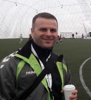 Trener Arkadiusz Obrycki na stażu w Akademii Legii