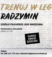 RUSZA PIŁKARSKIE PRZEDSZKOLE LEGII WARSZAWA W RADZYMINIE!