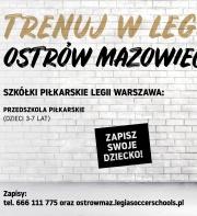 RUSZA PIŁKARSKIE PRZEDSZKOLE LEGII WARSZAWA W OSTROWI MAZOWIECKIEJ!!