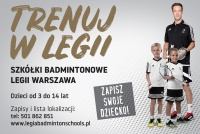 Legia Badmitnon Schools w GOSiR Konstancin-Jeziorna