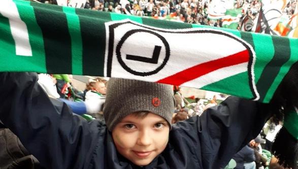 Legia Soccer Schools Zaleszany na meczu przy Ł3!